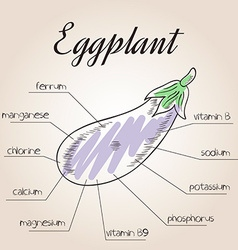 Nutrient list for eggplant vector