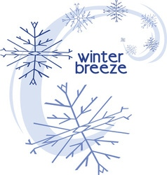 Winter breeze vector