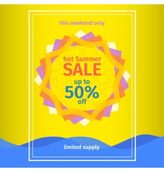 Hot summer sale vector
