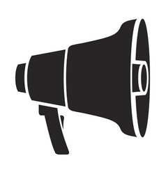 black silhouette of megaphone icon vector image vector image
