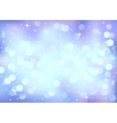 Blue winter festive lights background vector image