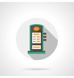 Charging station round flat color icon vector image vector image
