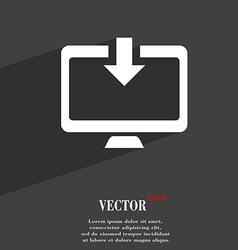 Download load backup icon symbol flat modern web vector