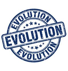 Evolution blue grunge stamp vector