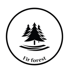 Fir forest icon vector image