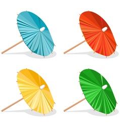 Four Umbrellas vector image vector image