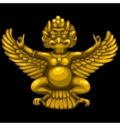 Golden statuette of the deity in Indian style vector image