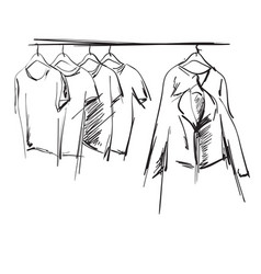 Hand drawn wardrobe sketch vector