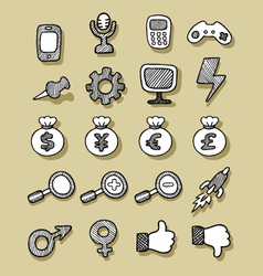 Icons Hand Drawn 2 vector image