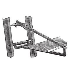 Ladder jack vintage vector