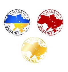 made in Ukraine stamp vector image vector image