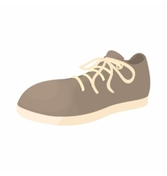 Male gray shoe with white sole icon cartoon style vector