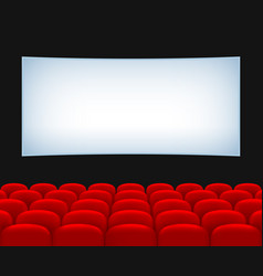 Movie theater hall vector