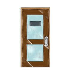 Office door isolated vector