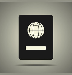 passport icon in black and white colors vector image vector image