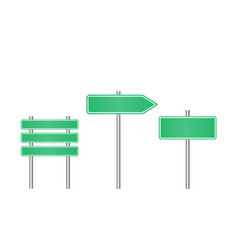 realistic road sign set road sign template vector image