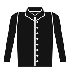 Shirt icon simple style vector image