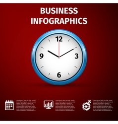 Time management infographics icon Clock blue icon vector image
