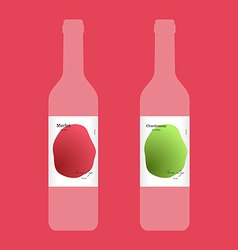 Wine label with modern design vector image vector image