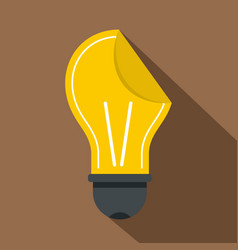yellow bulb sticker icon flat style vector image