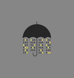 night city rain vector image