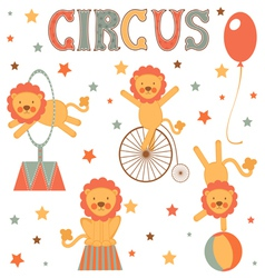 Circus lions vector