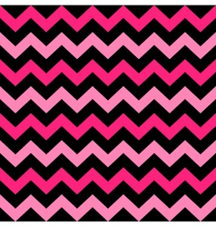 Cute chevron seamless pattern - black and pink vector