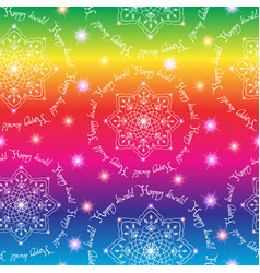 Diwali the indian festival of lights seamless vector