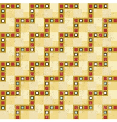 Vintage seam less pattern with grunge vector