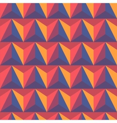 3d abstract pyramidal background vector image vector image