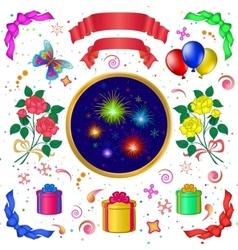 celebratory set vector image