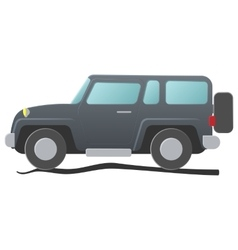Sport utility vehicle cartoon vector
