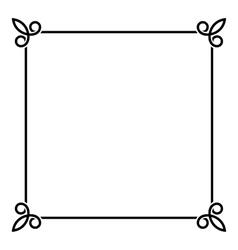 Black border vintage frame on white background vector