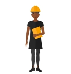 Woman holding laptop vector