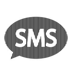 Sms sign on white vector