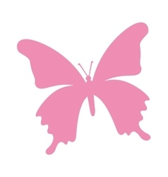 Butterfly pink silhouette icon vector