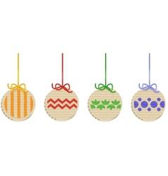 Cardboard x-mas balls set vector