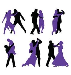 Couples dancing vector