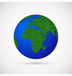 Earth with grass instead of continents vector image