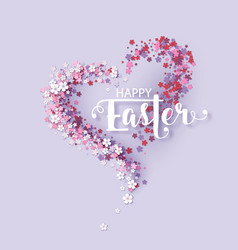 easter background with frame flowers vector image vector image