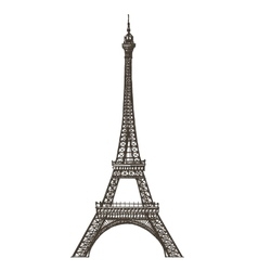 Eiffel tower logo design template Paris or vector image
