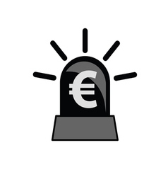Euro sign black and white vector
