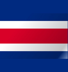 Flag costa rica flat icon vector