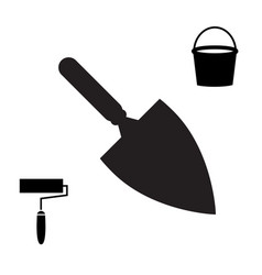 Garden or cement trowel icon vector