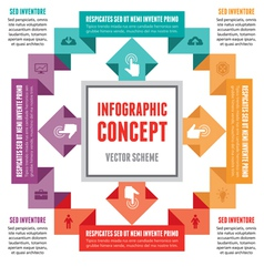 Infographic Concept - Abstract Scheme vector image vector image