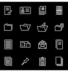 line document icon set vector image