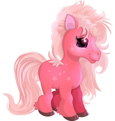 little beautiful pony vector image vector image