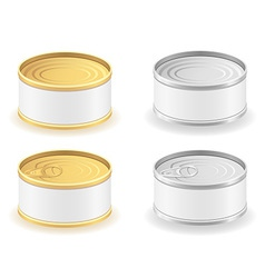 metal tin can 04 vector image