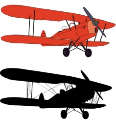 old airplane vector image vector image