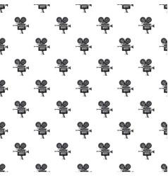retro camera pattern vector image vector image